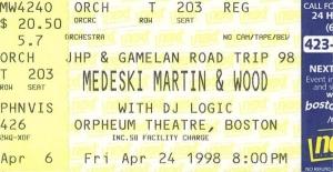 MMW 1998-04-24 Ticket Stub