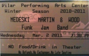 MMW 2011-03-02 Ticket Stub