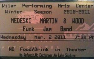 MMW 2011-03-02 Ticket Stub