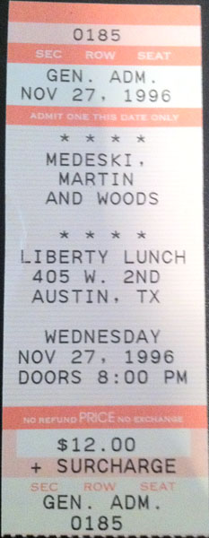 MMW 1996-11-27 ticket stub