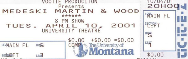 MMW 2001-04-10 ticket stub