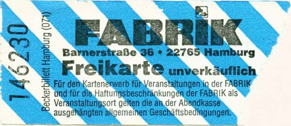 MMW 2001-01-31 ticket stub