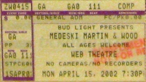 MMW ticket stub 2002-04-15