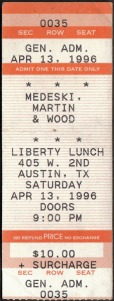 MMW ticket stub 1996-04-13