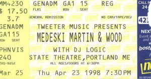 MMW 1998-04-23 ticket stub